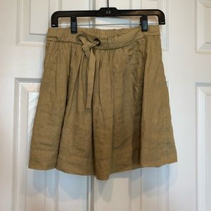 J crew tan skirt